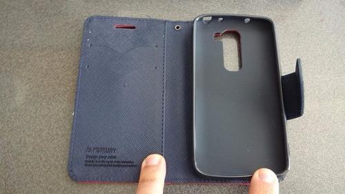 funda carcasa premium tipo billetera lg g2 mini d620