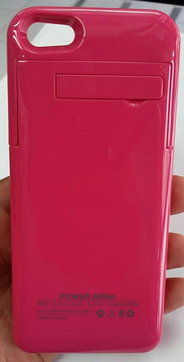 86e1fe9e6d9 Funda Cargador Power Bank Para iPhone 5s Rosa 2200mah - $ 299.00 en ...