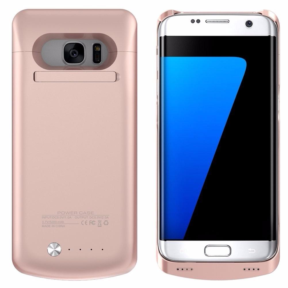 a39b378f339 Funda Cargador Samsung Galaxy S7 Edge Oro Dorado - $ 1,340.00 en ...