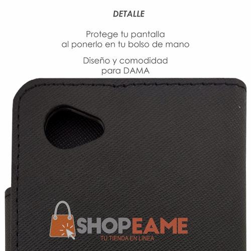 funda cartera cover elegante cristal lg q6 prime / plus m700