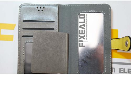 funda cartera universal flip case cuero 4.0 a 4.4 pulgadas