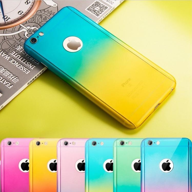 c94c2fb277f Funda Case 360 Bicolor + Mica Cristal iPhone 5 5s Se 6 Plus ...