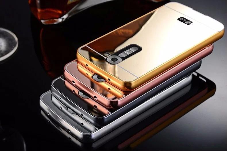 b6e6cb0d7af Funda Case Cover Metal Bumper Mirror Lg G3 G4 Stylus 2 3 - S/ 35,00 en  Mercado Libre