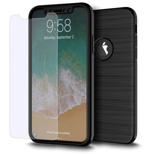 funda case + cris temp 360 iphone xs/x (no max)  caps bk