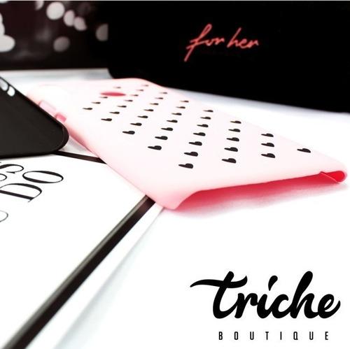 funda case diseño corazones dama negro rosa huawei y9 2019