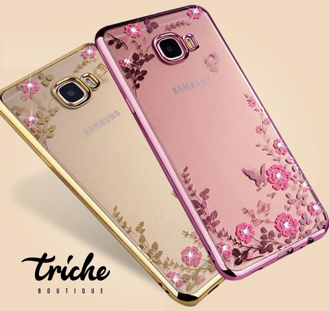 Funda case flores pedrer a rosa dorado galaxy j7 prime for Fondos para grand prime