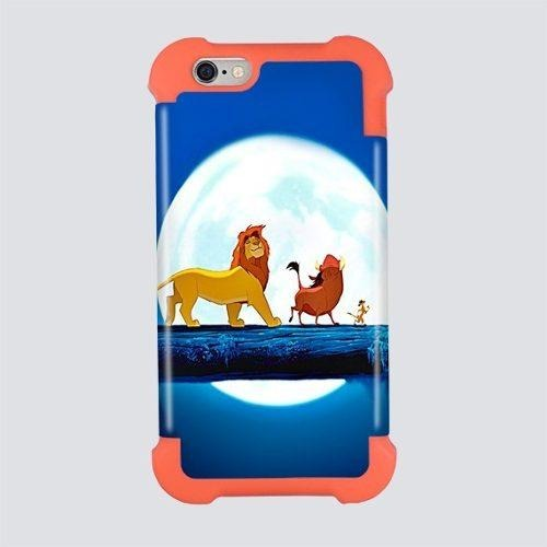 603de664047 Funda Case Goma iPhone 5 6 Plus Rey Leon Timon Pumba Disney ...