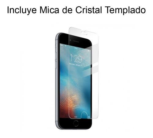 funda case iphone 8 / iphone 7 con cristal templado hot pink