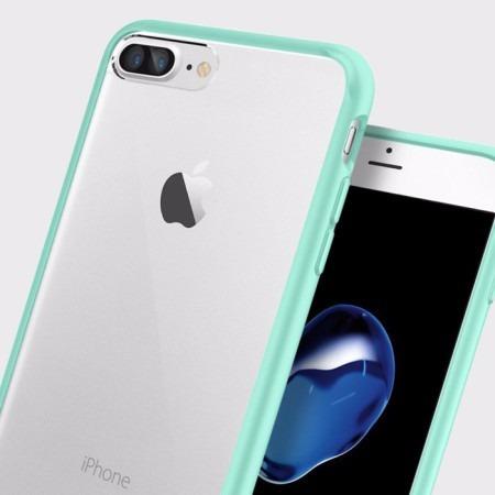 funda case iphone 8 plus / 7 plus acrílico transparente aqua