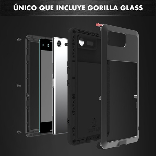 funda case love mei sony xperia xz premium blindado + glass