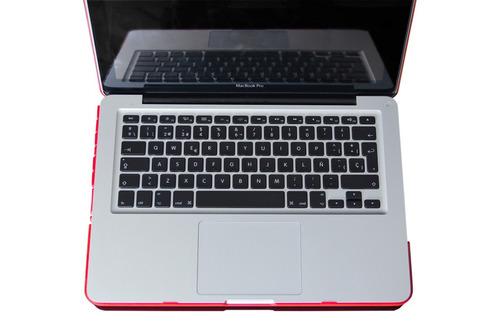 funda case mac air 13 marmol blanco + teclado español negro