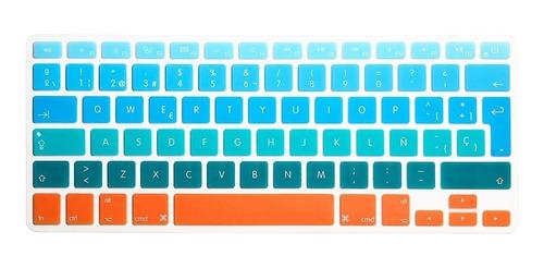 funda case macbook air 11 a1465 diseños + teclado + mica