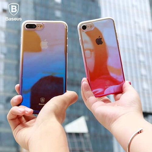 funda case magica iphone 7 super slim color azul
