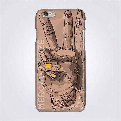 funda case protector celular  paz tattoo uñas doradas homie