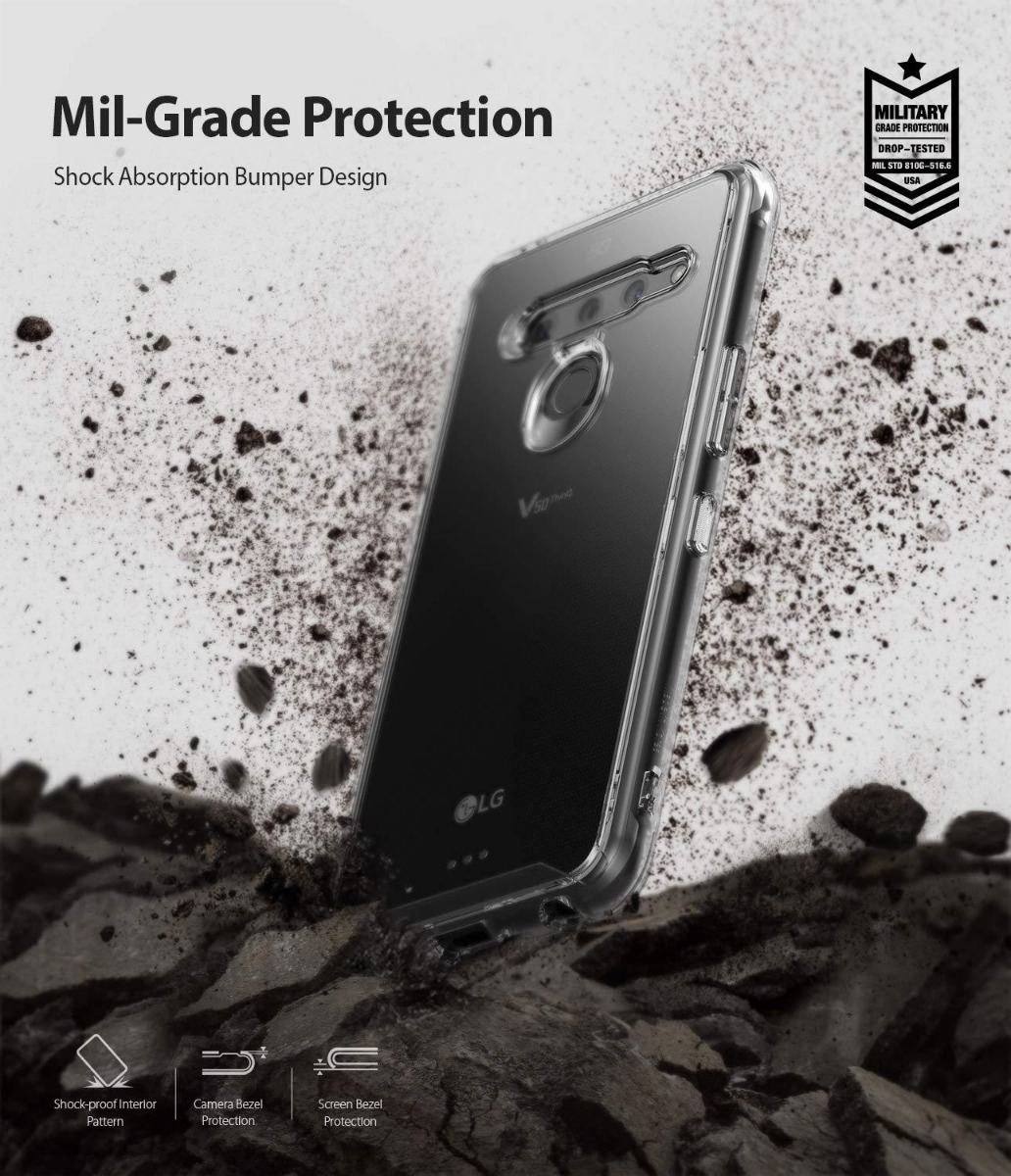 2a85e8d32ba Funda Case Ringke Fusion Para Lg V50 Thinq 5g Bumper - $ 429.00 en ...