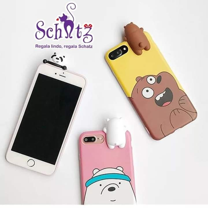 timeless design 3b4f8 2fee8 Funda Cases Para iPhone We Bare Bears iPhone X,xs, 6s/6, 7/8