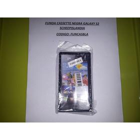 Funda Cassette Negra Galaxy S2 Funcasbla