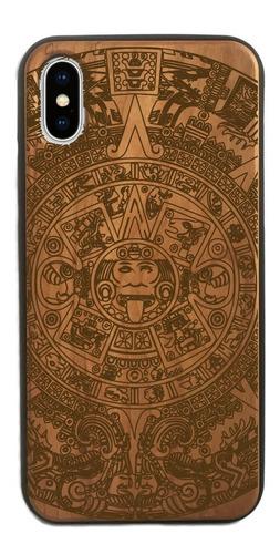 funda celular de madera iphone y samsung calendario azteca