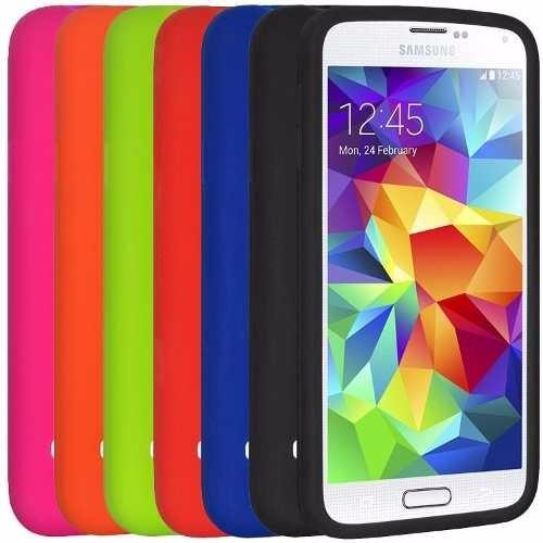 617b307ba49 Funda Celular Samsung Galaxy S5 Silicona Fucsia Y Violeta - $ 112,00 ...