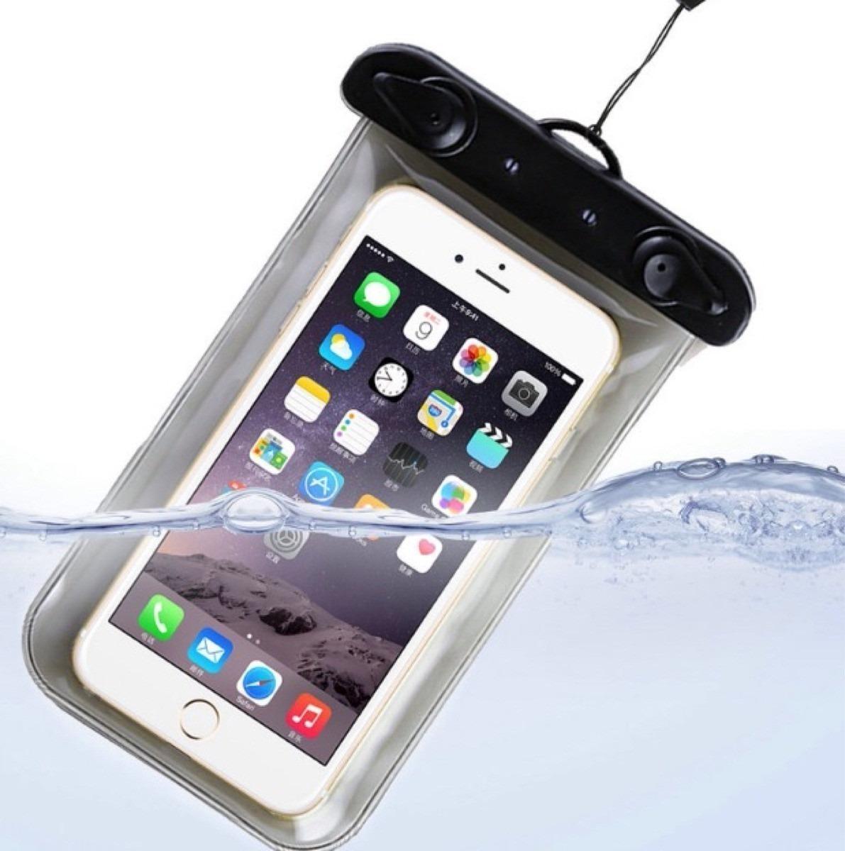 12caa36e5a8 funda celular sumergible resistente al agua universal 2 x 1. Cargando zoom.