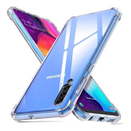 funda clear edge premium alto impacto + vidrio galaxy a50
