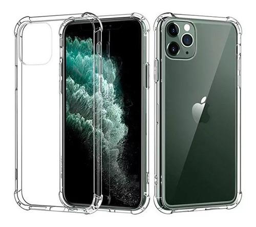 funda clear edge reforzada + vidrio iphone 11 pro 11 pro max