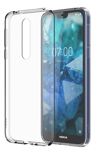 funda clear transparente nokia 7.1 plus