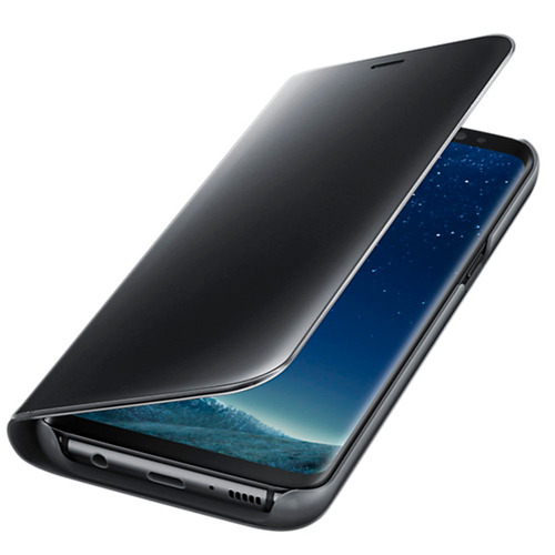 funda clear view standing cover negro s8 acc samsung
