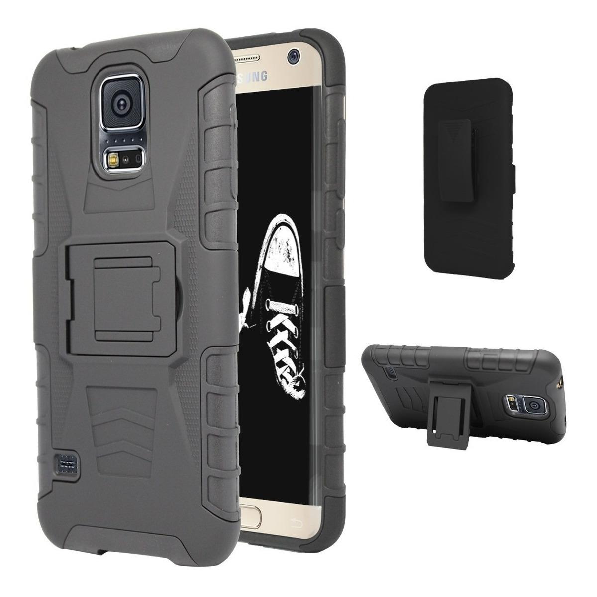 4f2cffdb8da Funda Clip Uso Rudo Galaxy S5 S6 S7 S8 S9 S10 Lite Edge Plus ...