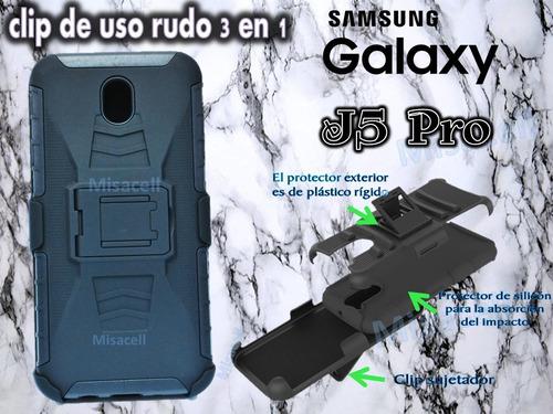 funda clip uso rudo  samsung j5 pro + envió gratis  :)