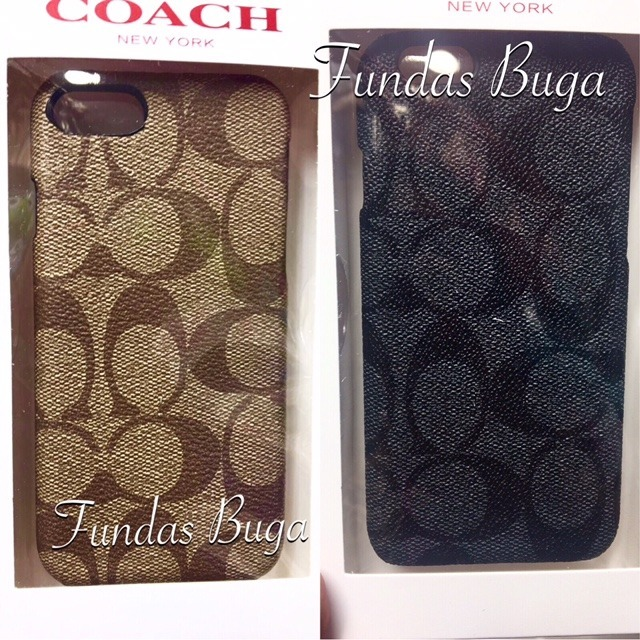 finest selection 7c73c 4c38f Funda Coach iPhone 6 6s Y Plus Case Protector Cafe Negro