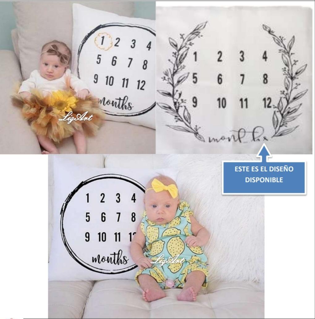 Funda Cojin,medidor De Edad,meses,bebe,sesion Fotos,cuarto