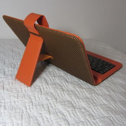 funda con teclado español posicion lectura tablets de 7
