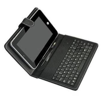 funda con teclado mini usb / micro usb / usb  para tablet 7