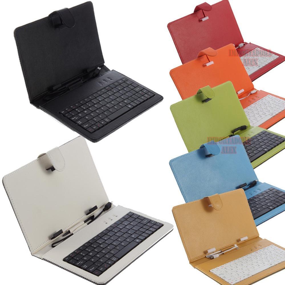 Funda con teclado para tablet 7 pulgadas 6 colores universal en mercado libre - Fundas con teclado para tablet ...