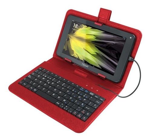 funda con teclado para tablet 7 pulgadas estuche noga nkb007