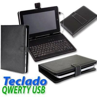 Funda con teclado qwerty usb para tablet de 7 pulgadas en mercado libre - Funda tablet con teclado 7 ...