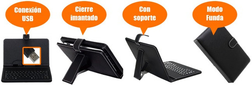 funda con teclado tablet 7  usb