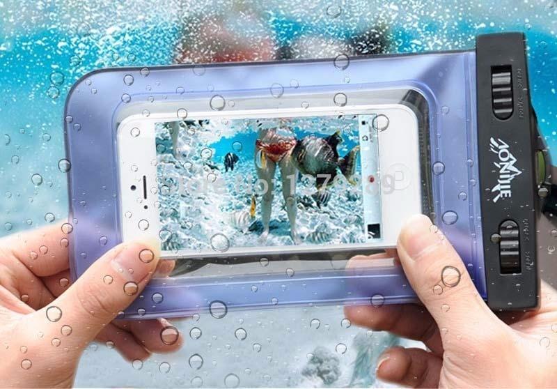 3f68ae7a5b6 Funda Contra Agua Universal Sumergible Celular - $ 125.00 en Mercado ...