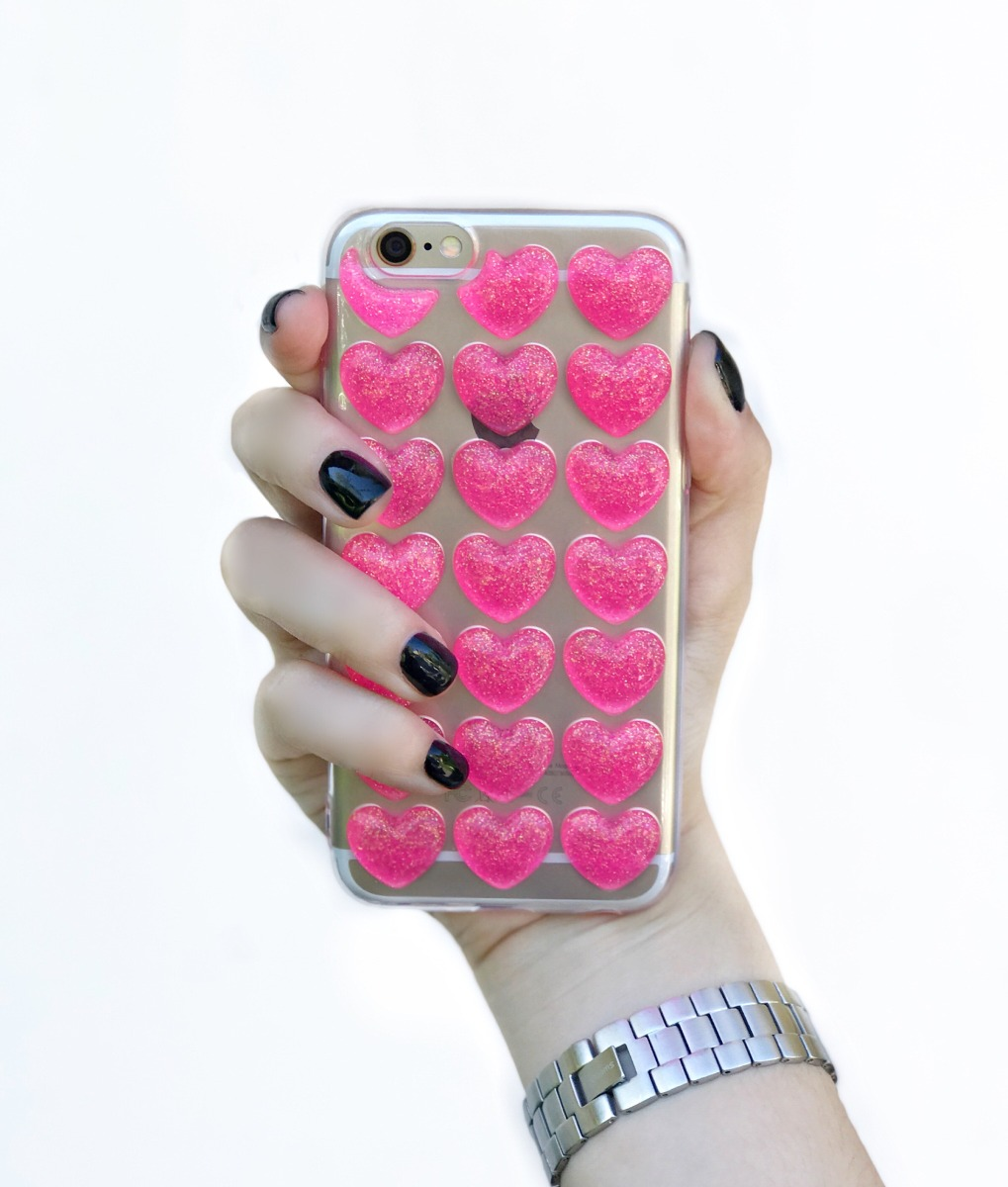Funda Corazones 3d Silicona Iphone 66s 66splus 7 Y 7 Plus 310