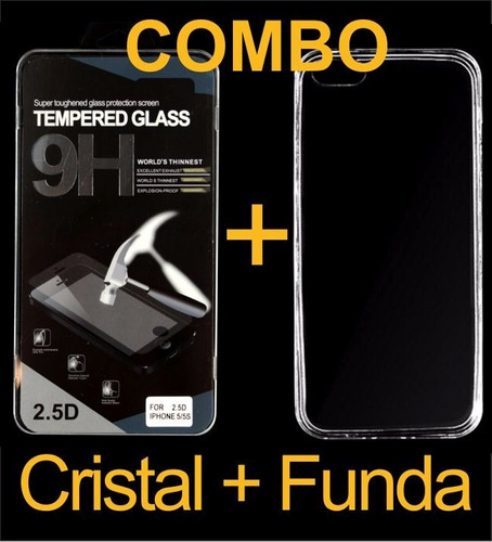 funda crystal case más cristal templado alcatel ot4027