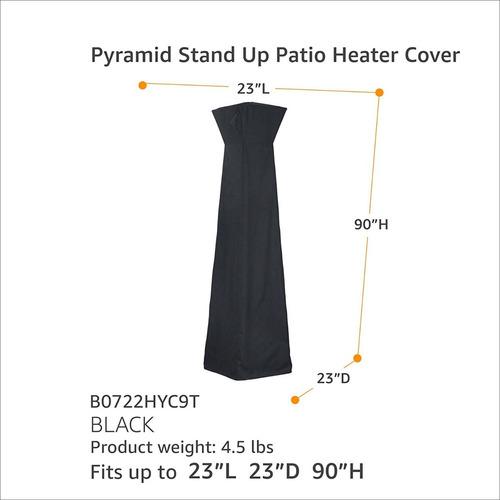 funda cubierta calentador patio exterior piramide 90 2.42 m