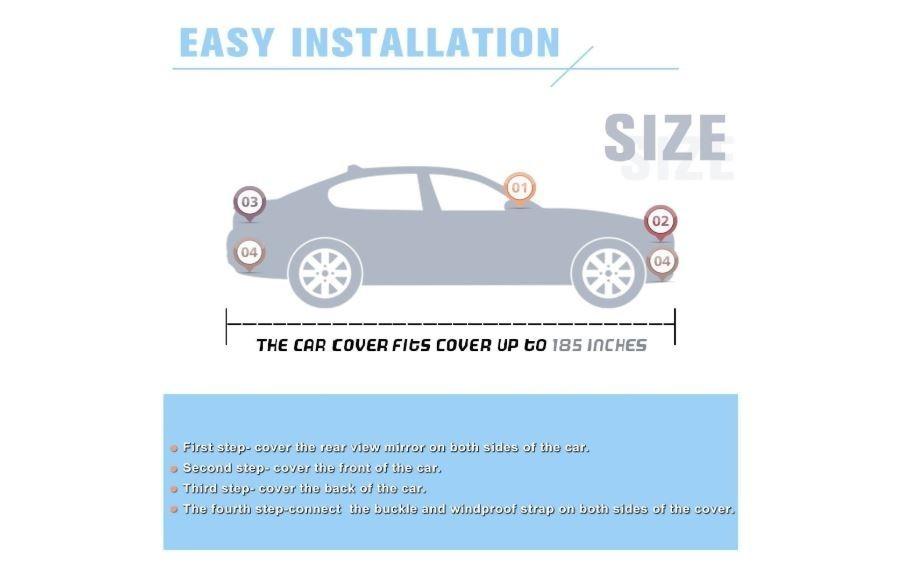 Peugeot 308 Coche Cubierta Transpirable UV proteger interior al aire libre
