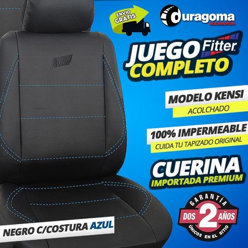 funda cubre asiento auto cuerina super acolchada riñonera