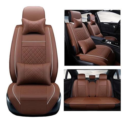 funda cubre asiento auto premium luxury con 4 almoadillas