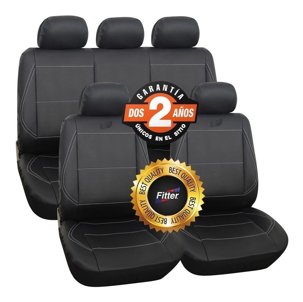 Negro//Gris Juego Completo delanteras y traseras cubiertas de asiento de coche para Honda Jazz todos los años