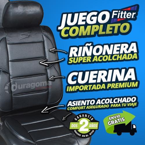 funda cubre asiento cuerina auto super acolchada riñonera