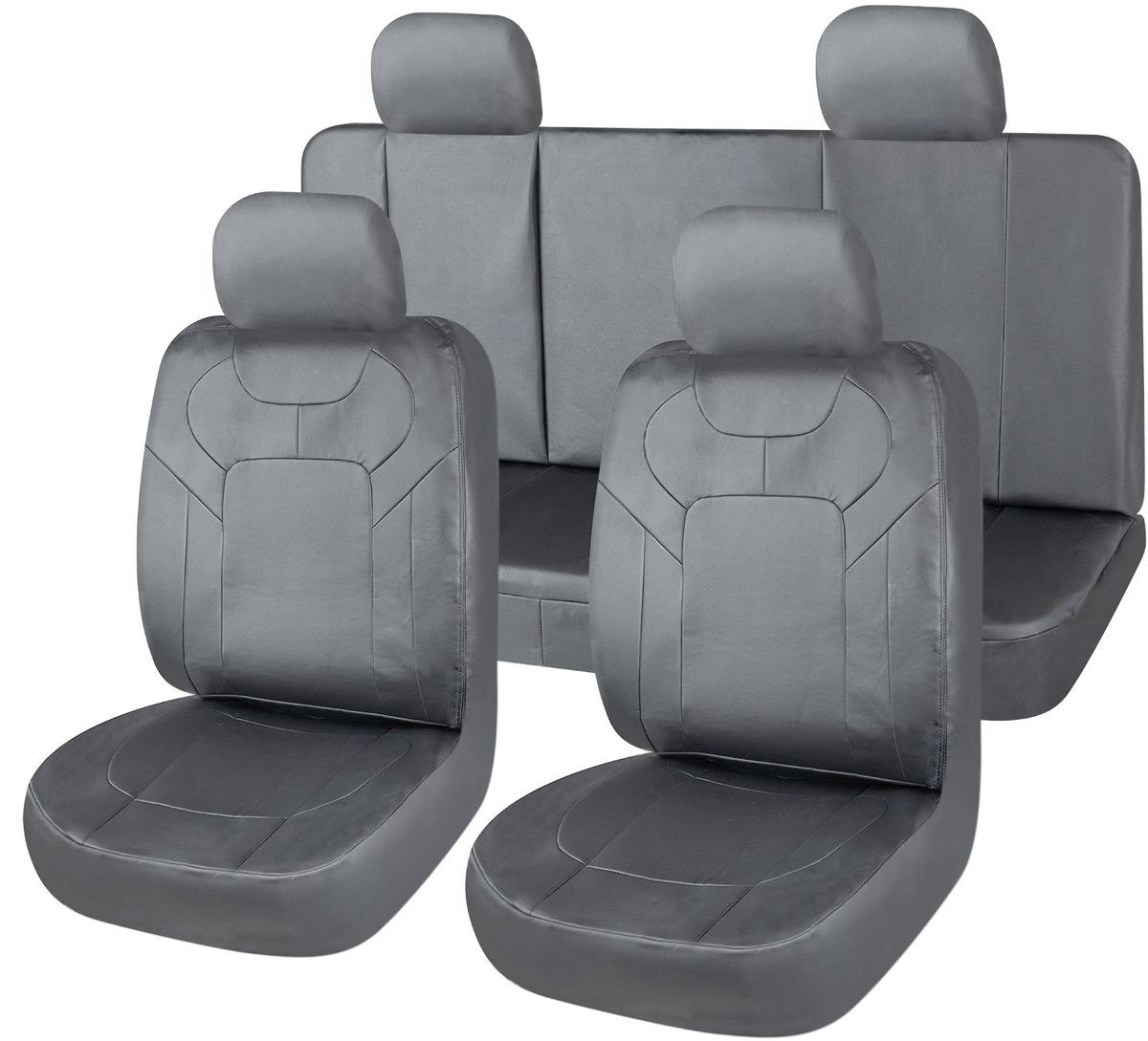 cce2fddc50b funda cubre asiento cuerina auto universal completa gris. Cargando zoom.