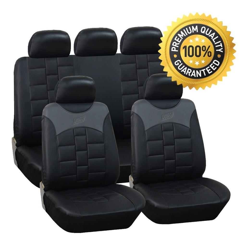 Negro gris asiento de coche cubre Para Nissan Micra Vw Lupo
