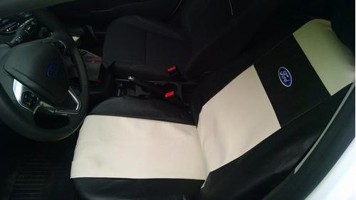 funda cubre asiento cuero renault sandero stepway duster c/ respaldo trasero repartido ( juego completo )
